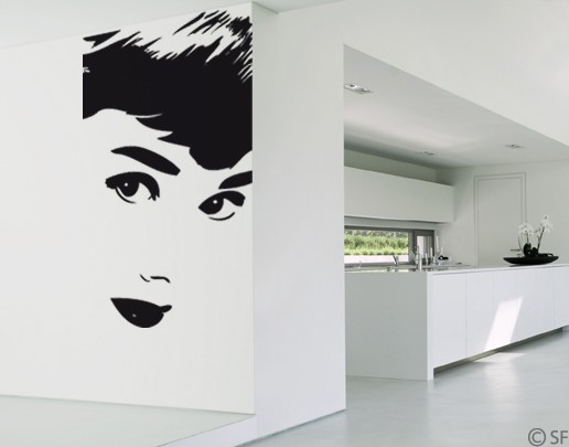 Wandtattoo Face to Face