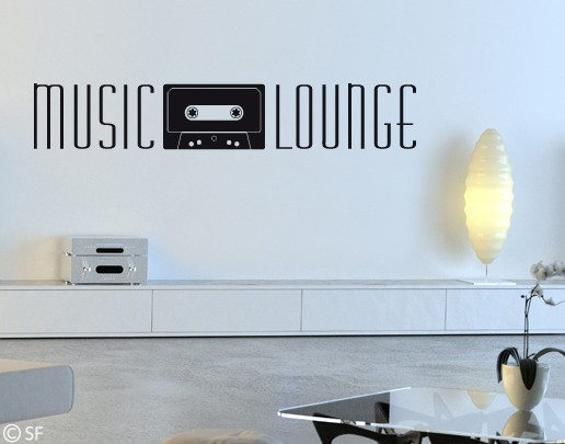 Wandtattoo Music Lounge