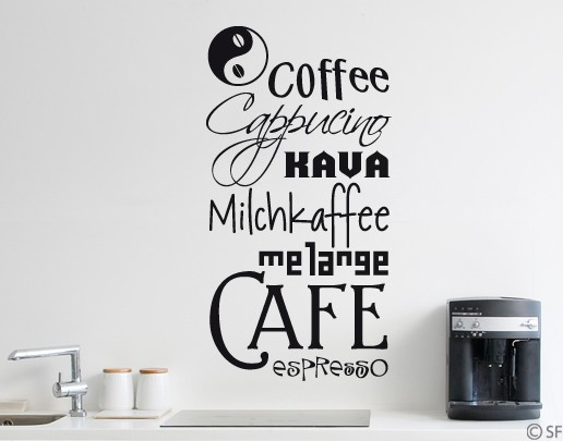 Wandtattoo Coffee Medley