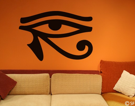 Wandtattoo horus auge wohnzimmer wandaufkleber wandsticker for Bildmotive wohnzimmer