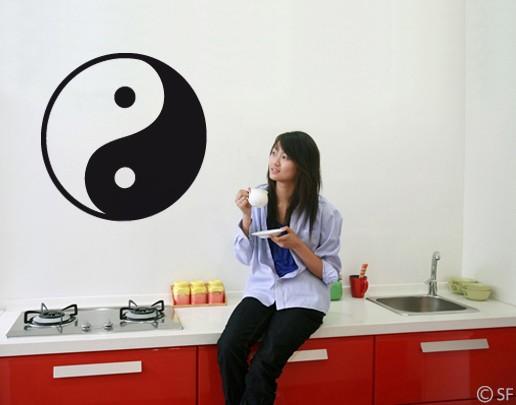 Wandtattoo Yin & Yang