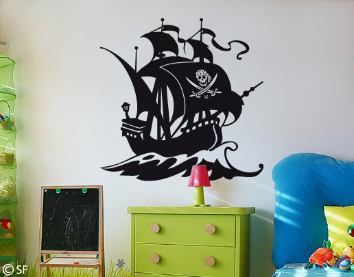 Wandtattoo Piratenschiff