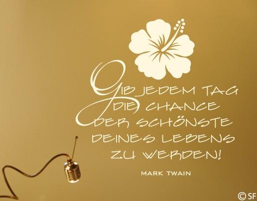 Wandtattoo Mark Twain
