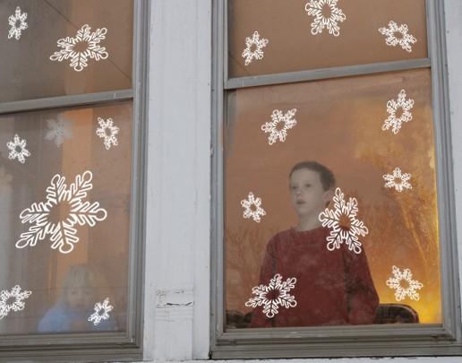 Wandtattoo Schneeflocken