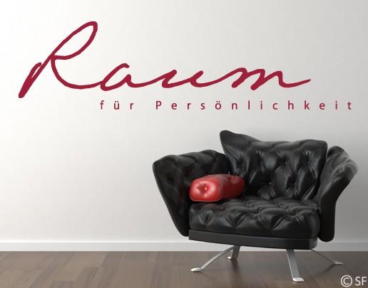 Wandtattoo Raum für Persönlichkeit