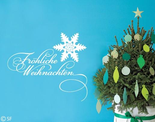 Wandtattoo Fröhliche Weihnachten