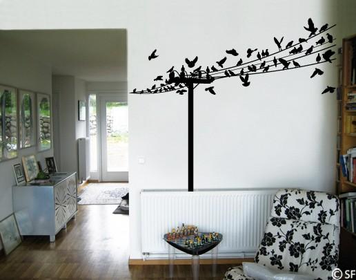Wandtattoo Die Vögel