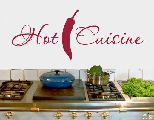 Wandtattoo Hot Cuisine