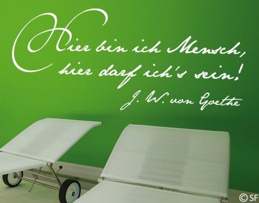 Wandtattoo Goethe