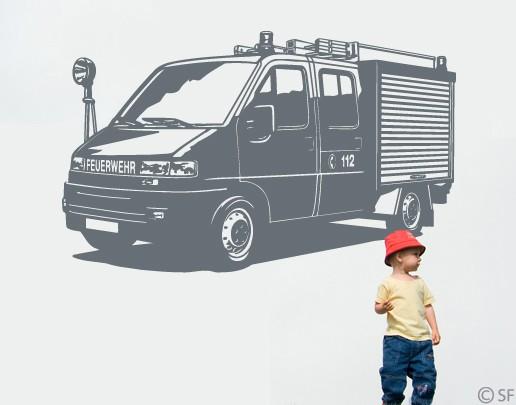 Wandtattoo Feuerwehr-Auto