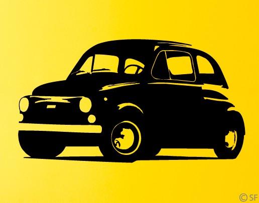 Wandtattoo Fiat 500