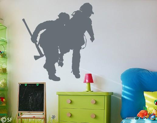Wandtattoo Fire Fighters Feuerwehr Männer