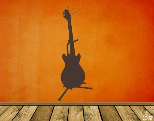 Wandtattoo E-Gitarre