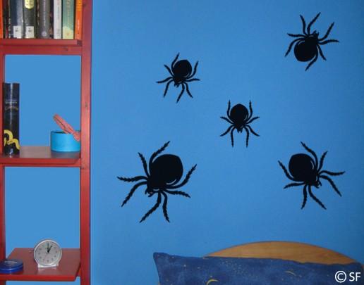 Wandtattoo Spinnenkinder