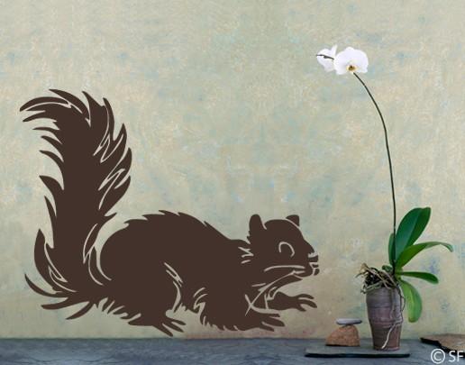 Wandtattoo Eichhörnchen