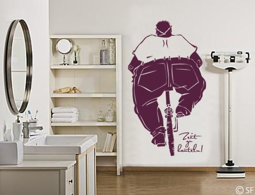 wandtattoo zeit zu hanteln sport fitness studio uss325 fahrrad abnehmen gewicht ebay. Black Bedroom Furniture Sets. Home Design Ideas