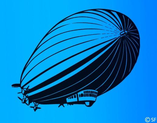 Wandtattoo Zeppelin
