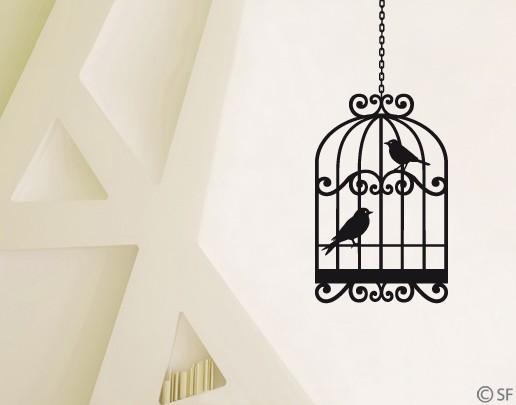 Wandtattoo Vogelkäfig