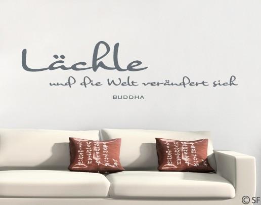 wandtattoo l chle buddha spr che wohnzimmer schlafzimmer. Black Bedroom Furniture Sets. Home Design Ideas
