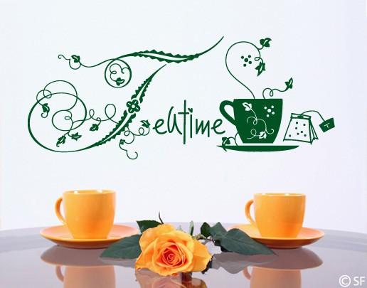 Wandtattoo Teatime