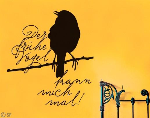 Wandtattoo Der frühe Vogel