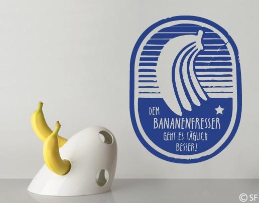 Wandtattoo Bananenfresser