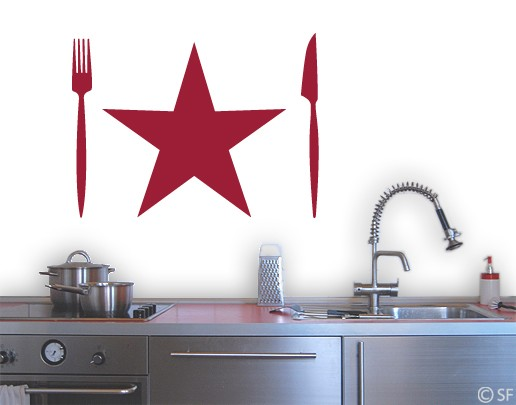 Wandtattoo Küchenstern
