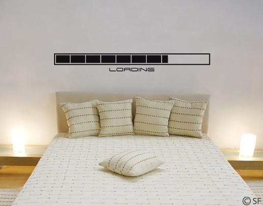 Wandtattoo Loading - Wandtattoo fürs Schlafzimmer