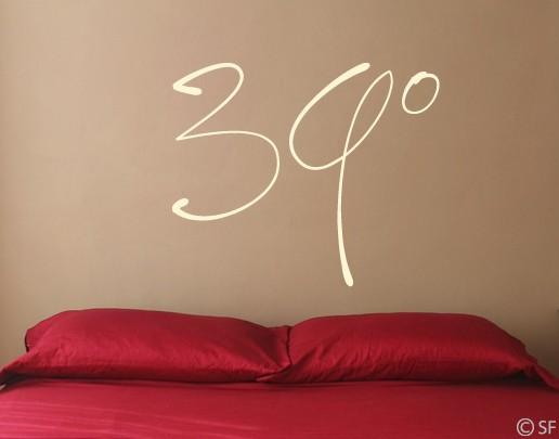Wandtattoo 39°