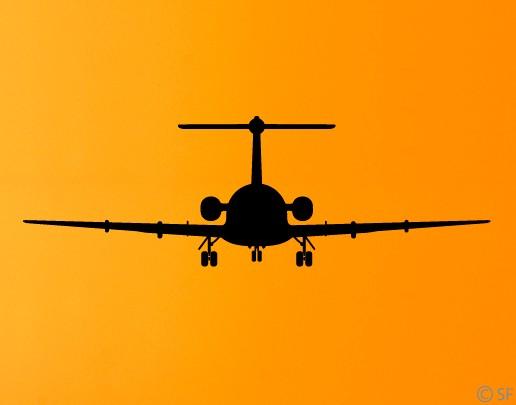 Wandtattoo Fokker 28
