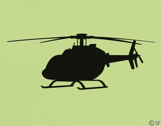 Wandtattoo Helicopter Bell 407