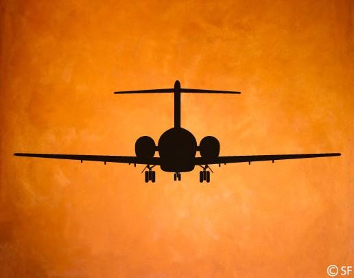 Wandtattoo Boeing 717