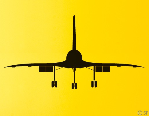 Wandtattoo Concorde