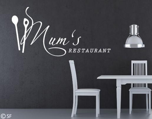 Wandtattoo Mums Restaurant