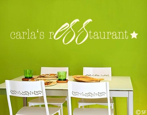 Wandtattoo Wunschtext Restaurant
