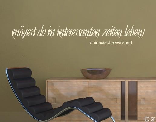 Wandtattoo Chinesische Weisheit