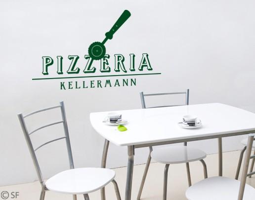 Wandtattoo Pizzeria Wunschtexttattoo