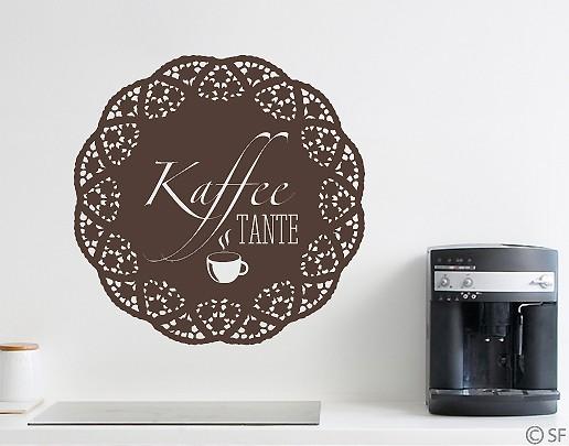 Wandtattoo Kaffeetante