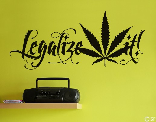Wandtattoo Legalize it!