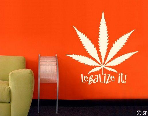 Wandtattoo Legalize it!