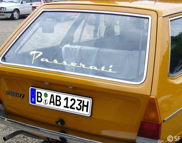 Autoaufkleber Passerati (für Passat-Fahrer)