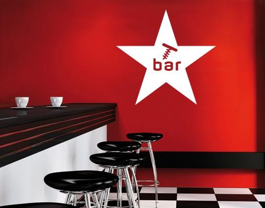 Wandtattoo Bar