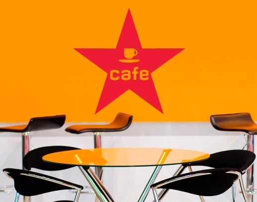 Wandtattoo Café