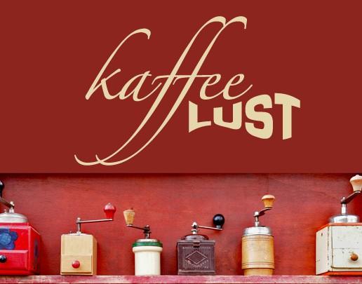Wandtattoo Kaffeelust