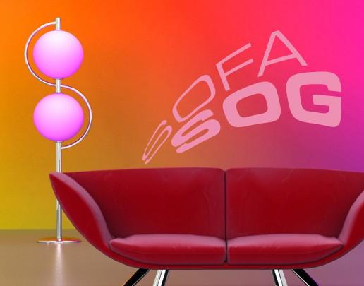Wandtattoo Sofa Sog