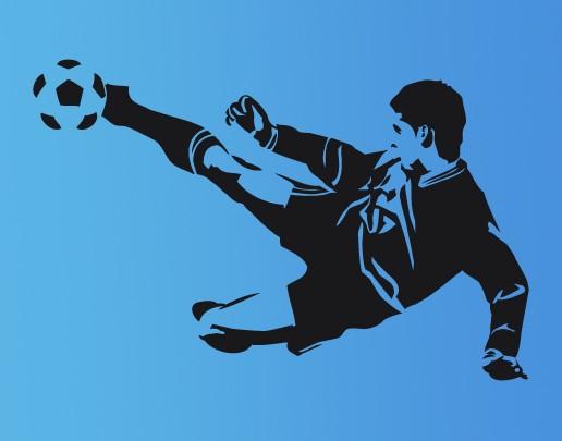 Wandtattoo Fußball-Volleyschuß