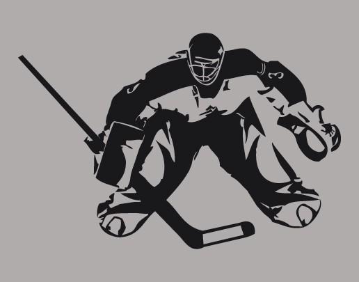 Wandtattoo Eishockeytorwart