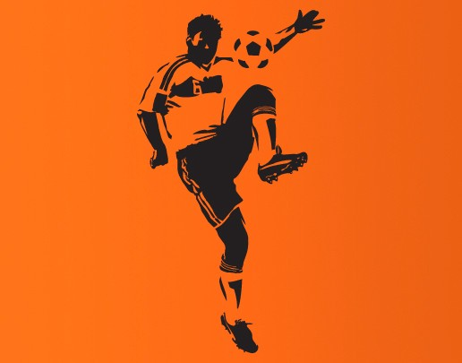Wandtattoo Fußballkünstler