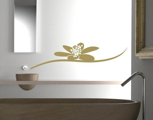 Wandtattoo Wasserblume