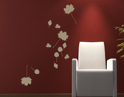 Wandtattoo Herbstblätter